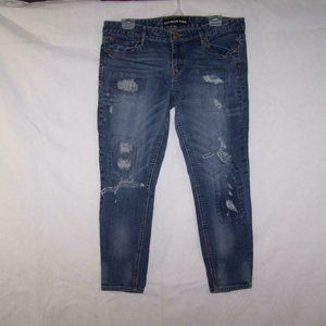 Express Jeans 12 Ankle Legging Distressed Ripped